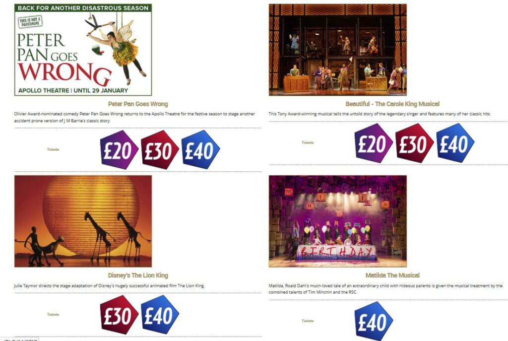 Günstige Theatertickets in London