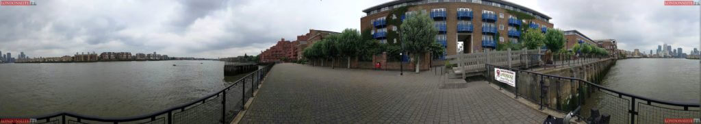 Themse bei Wapping 360 Grad Blick
