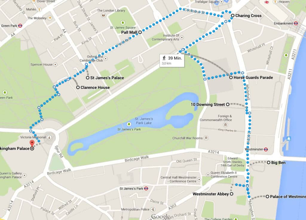 Route Regierungsviertel