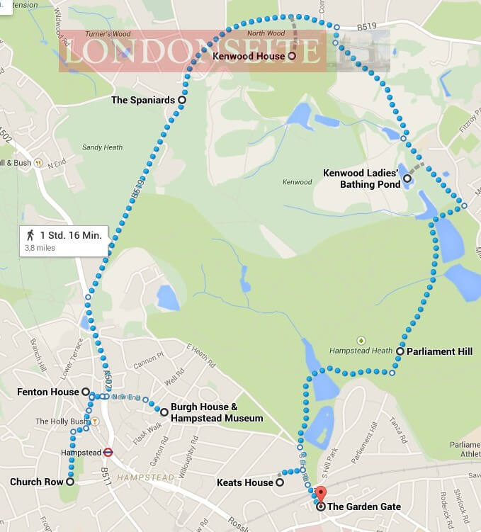 Spaziergang Hampstead Heath