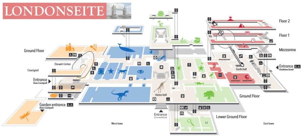Natural History Museum Karte