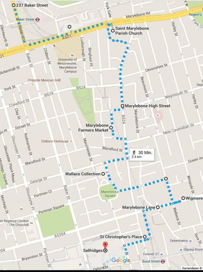 Spaziergang 10 -Marylebone