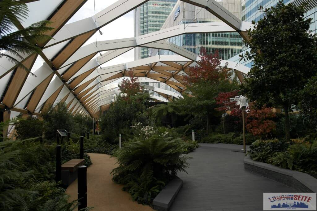 Spaziergang durch Canary Wharf