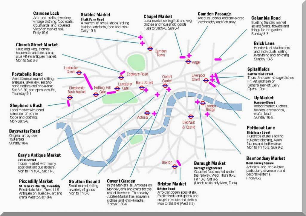 Märkte London Karte