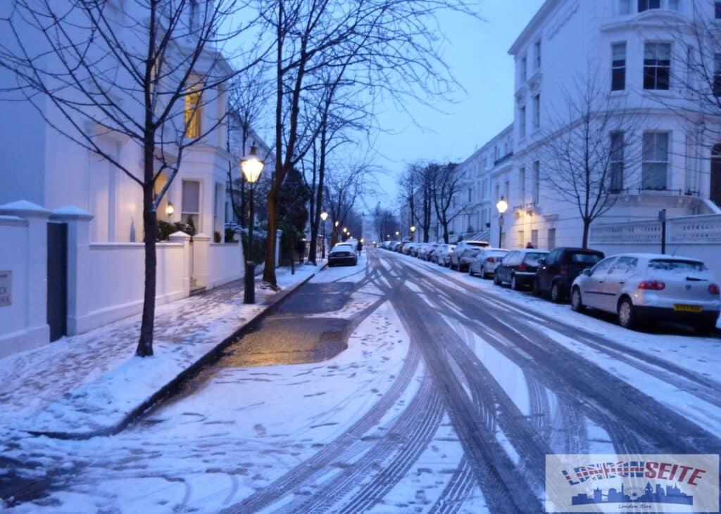Winter in London - Schnee