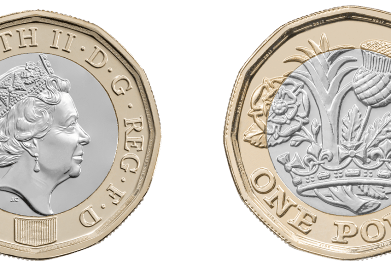 neue Ein-Pfund Münze