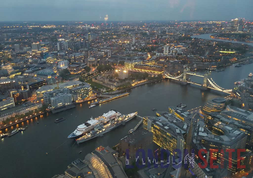 The Shard specktakuläre Aussicht Richtung Tower Bridge