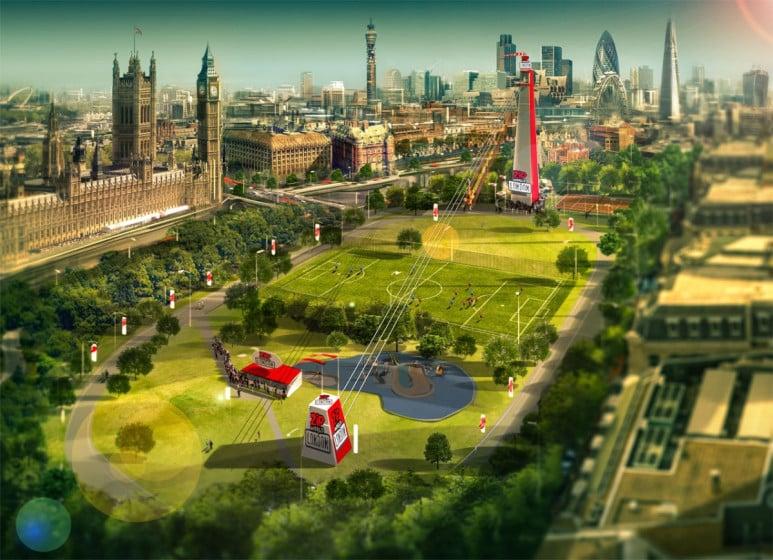 Seilrutsche London ZipWorld