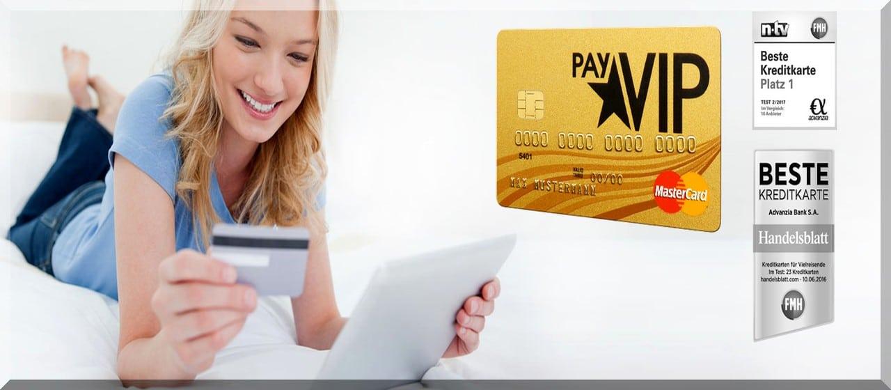PayVip kostenlose Kreditkarte