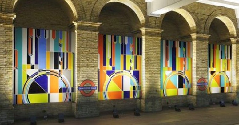 Kunst in der Londoner Tube