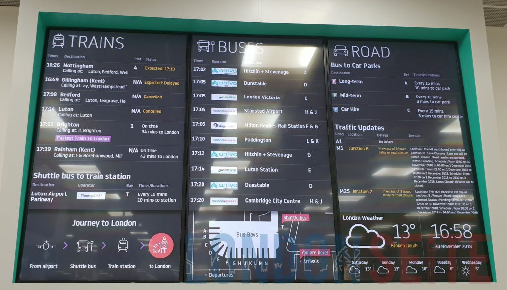 London Luton Airport Abfahrtszeiten