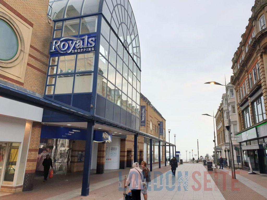 London Southend Einkaufszentrum und Promenade