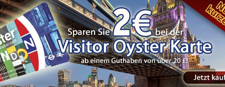 London Oyster Card Rabatt