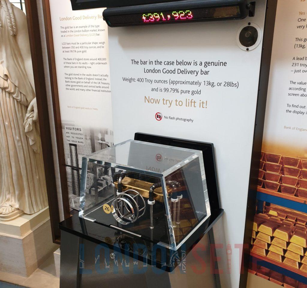 Bank of England Museum Goldbarren