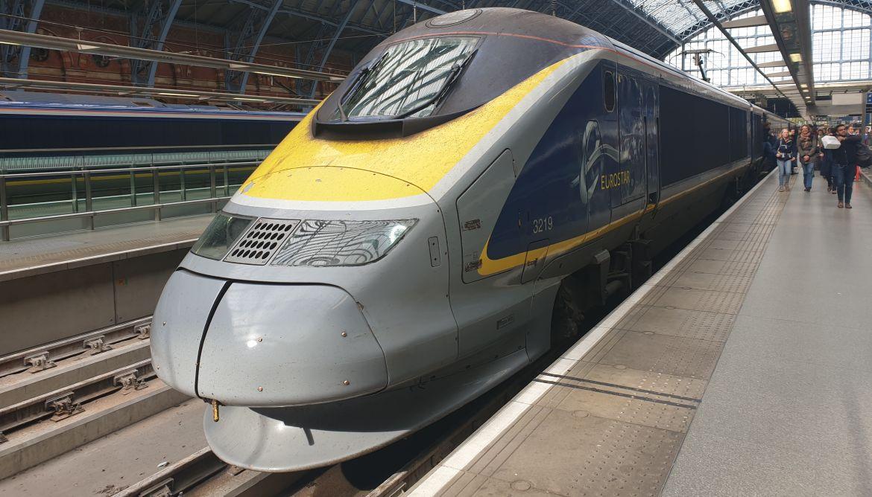 Mit dem Zug nach London